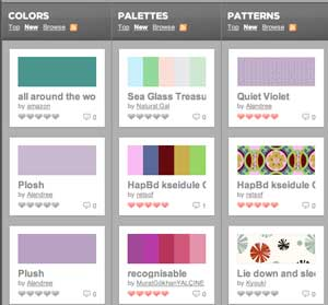 color palettes and creative inspiration for your clickbooq website